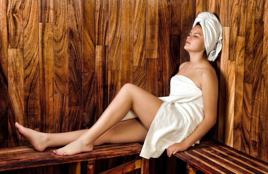Cheap London escorts - leggy girl in a sauna