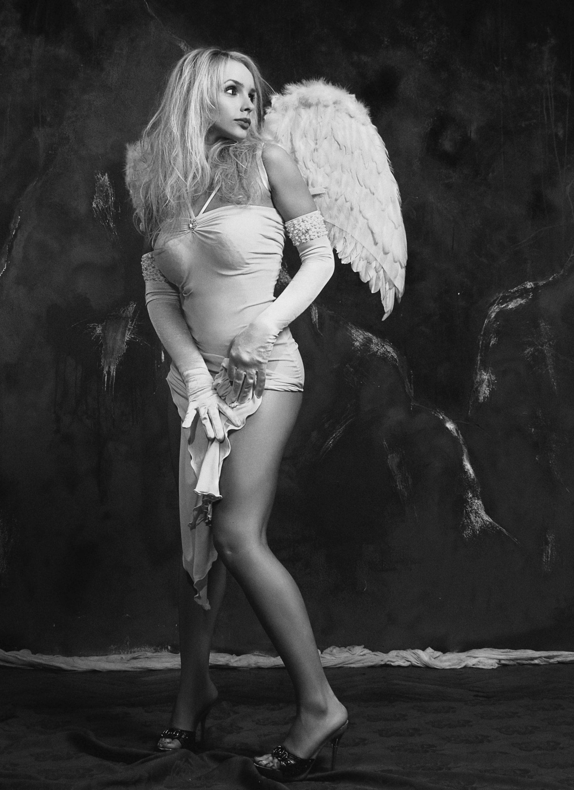 Sexy girl like an angel